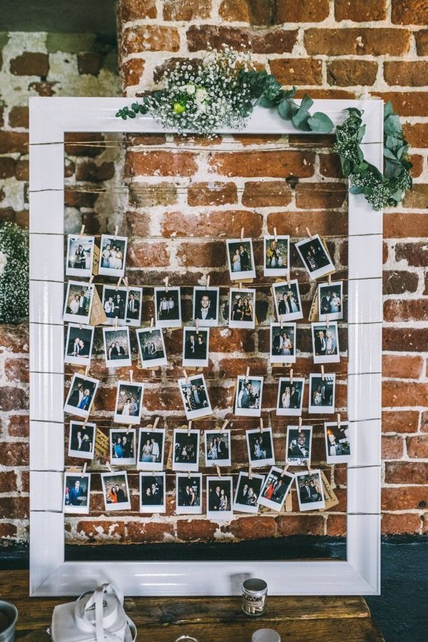 boho chic wedding photo display ideas