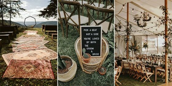 boho wedding decorations