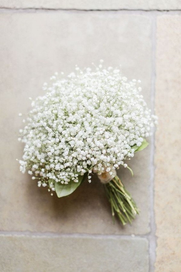 budget friendly baby's breath wedding bouquet ideas