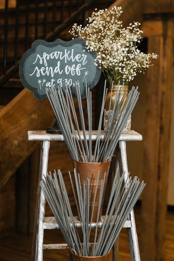 budget friendly sparklers wedding send off ideas
