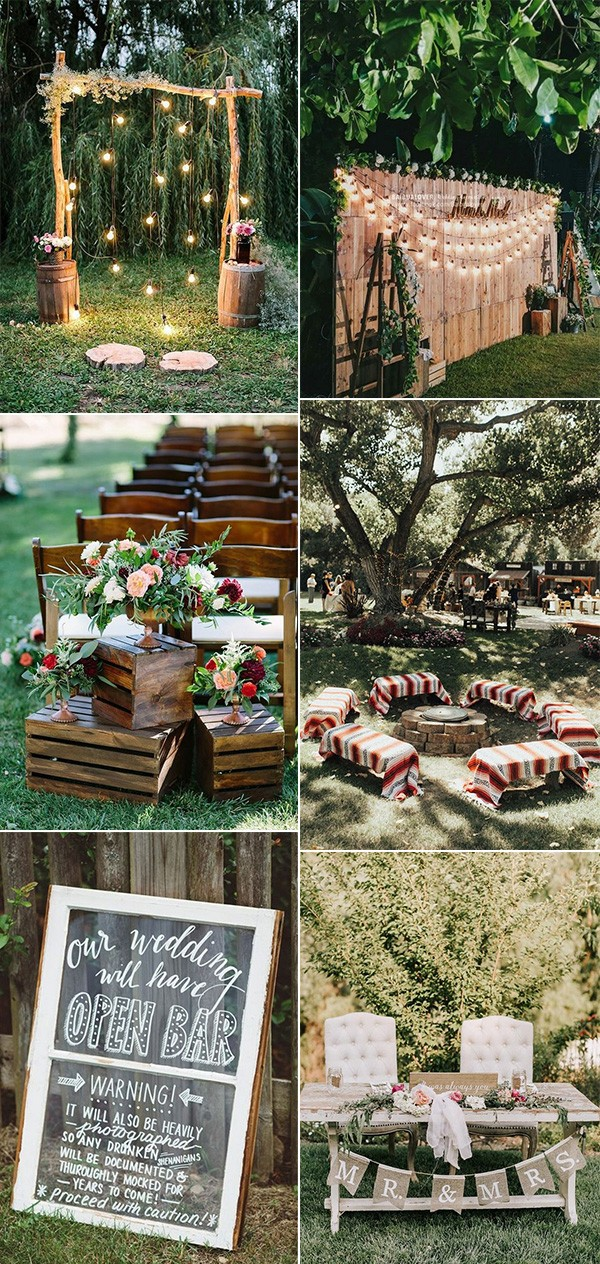 15 Creative Backyard Wedding Ideas On A Budget Emmalovesweddings
