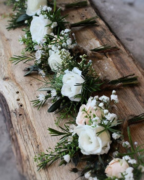 chic rustic wedding boutonniere