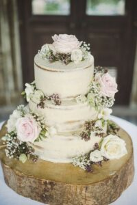 chic rustic wedding cake ideas