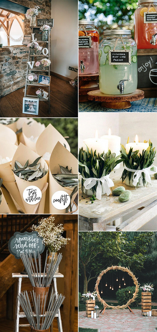 chic vintage DIY wedding ideas on a budget