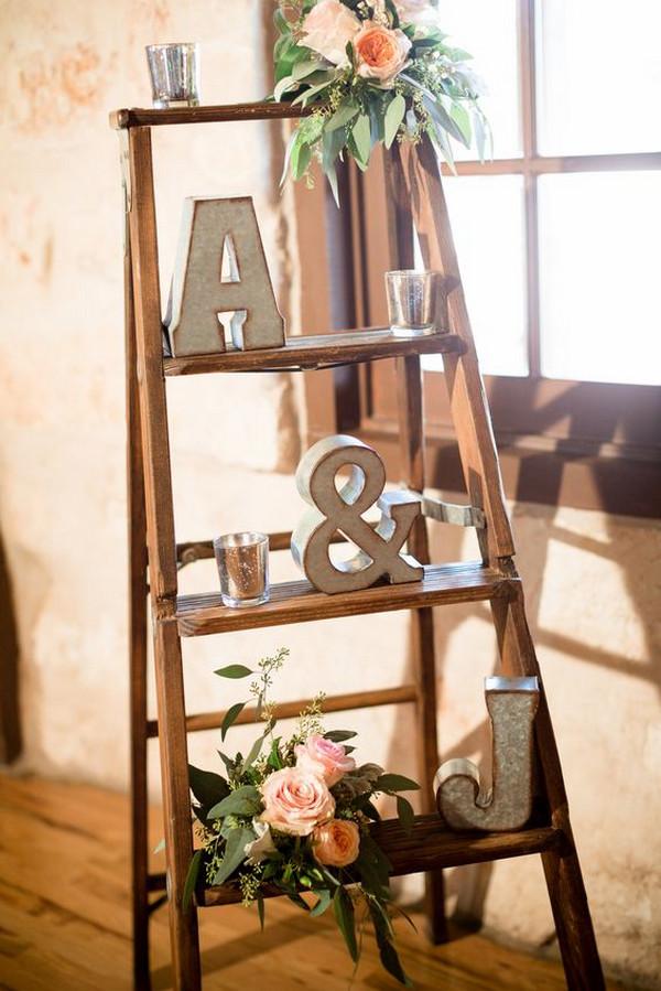chic vintage ladder inspired wedding decoration ideas