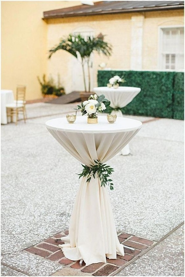 cocktail table for backyard weddings