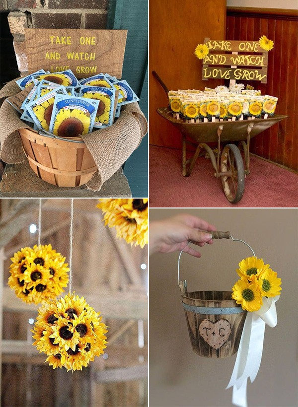 country rustic sunflower wedding ideas