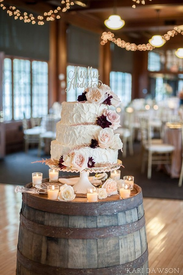 country rustic wedding cake ideas