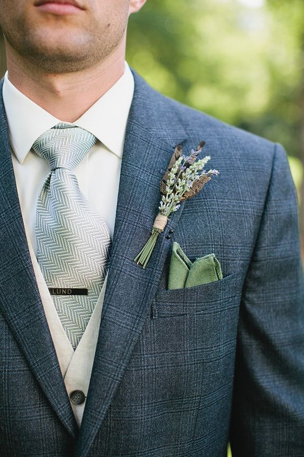 navy blue and green groom attire wedding ideas
