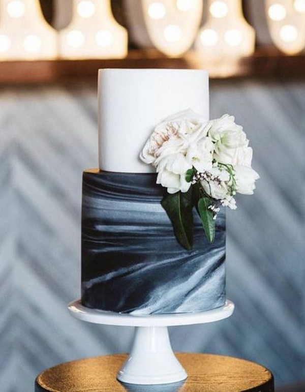navy blue wedding cake ideas