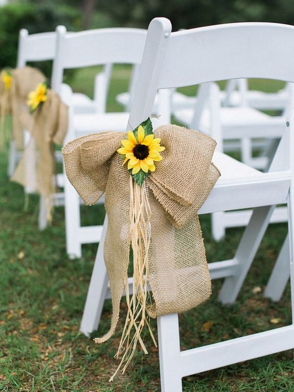 outdoor country wedding aisle decoration ideas