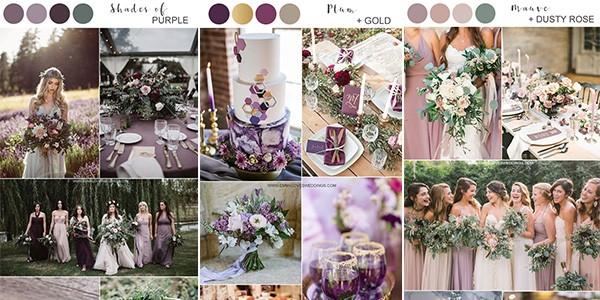Popular Wedding Colors.Top 5 Shades Of Purple Wedding Color Ideas Emmalovesweddings