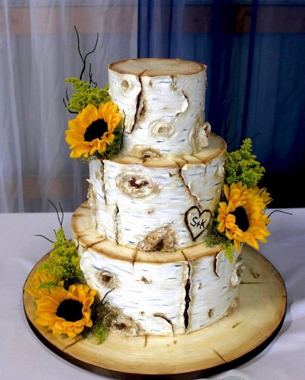 Sunflower Wedding Cake Ideas: 35 Pretty And Bright Sunflower Wedding Ideas