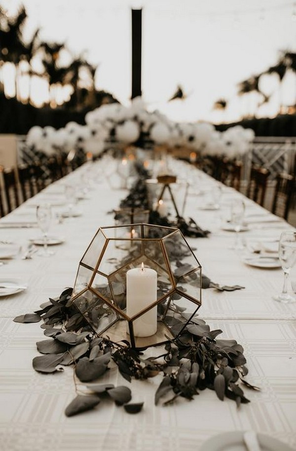 sage green boho wedding centerpiece ideas
