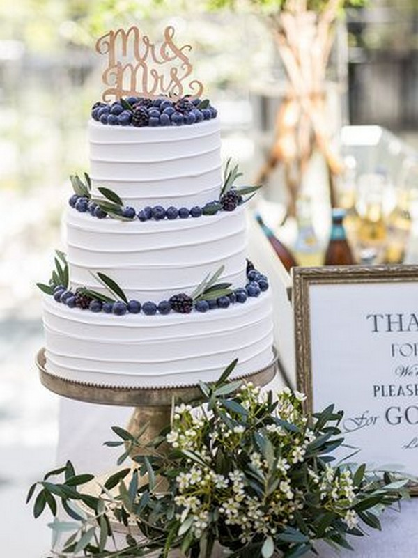 simple chic wedding cake ideas