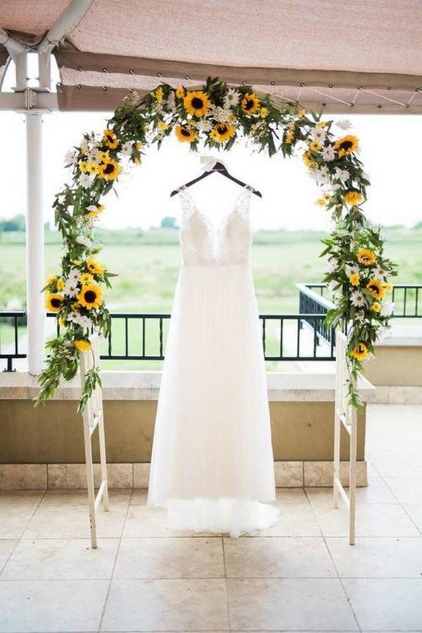 sunflower outdoor wedding arch ideas