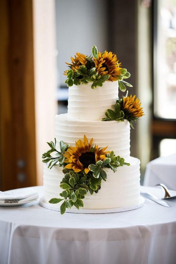 sunflower wedding cake ideas