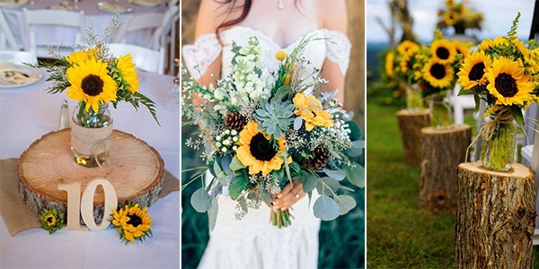 9 Pretty and Bright Sunflower Wedding Ideas - EmmaLovesWeddings