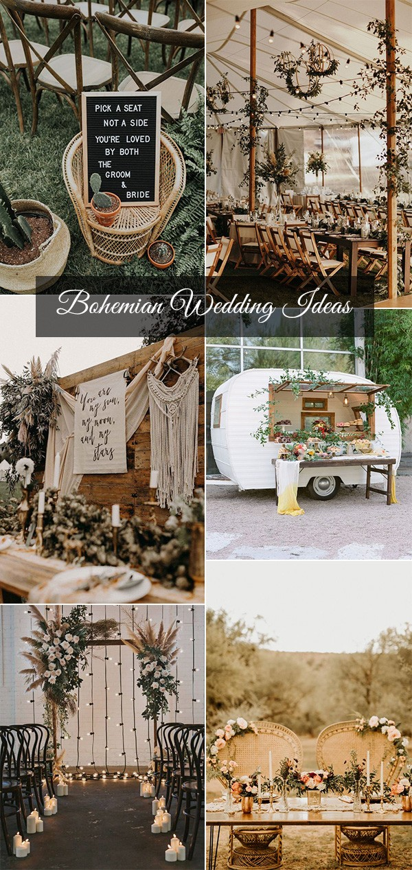 trending bohemian inspired wedding decoration ideas