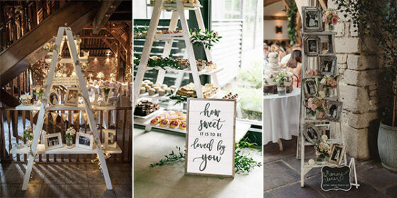 vintage ladders wedding ideas