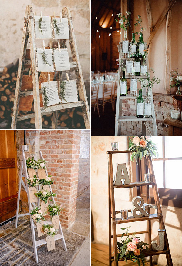 vintage wedding seating plan decoration ideas