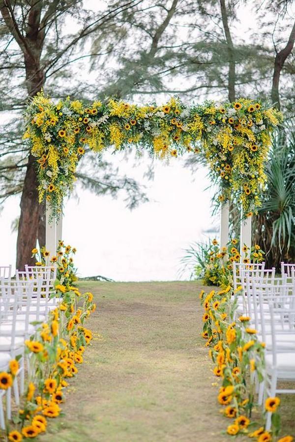 35 Pretty And Bright Sunflower Wedding Ideas Emmalovesweddings