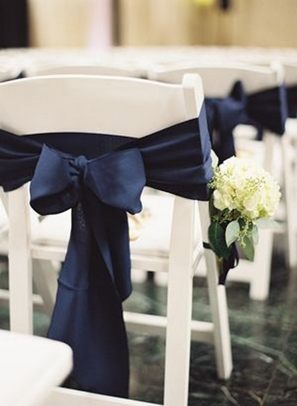 wedding ceremony chair decoration ideas