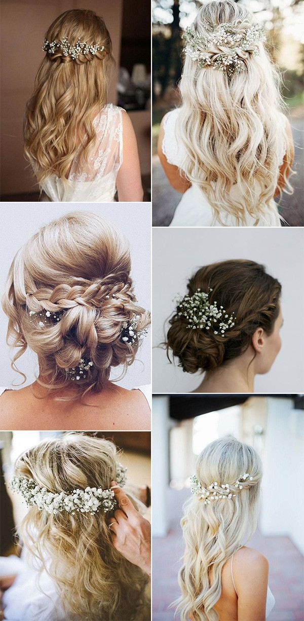wedding hairstyles with baby's breath