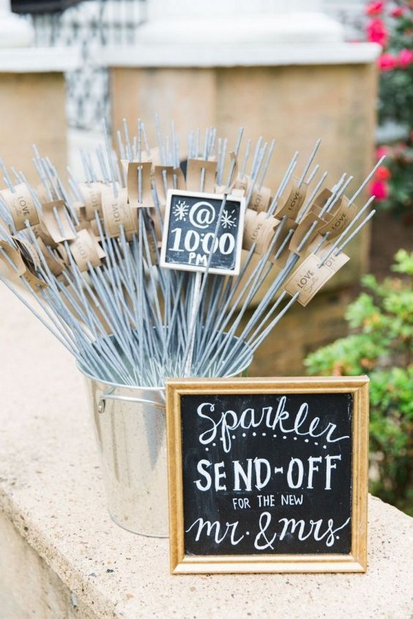 wedding sparkler send-off ideas