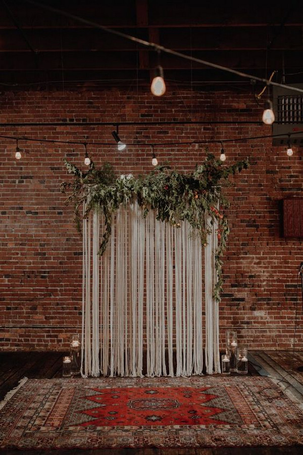 bohemian wedding backdrop ideas