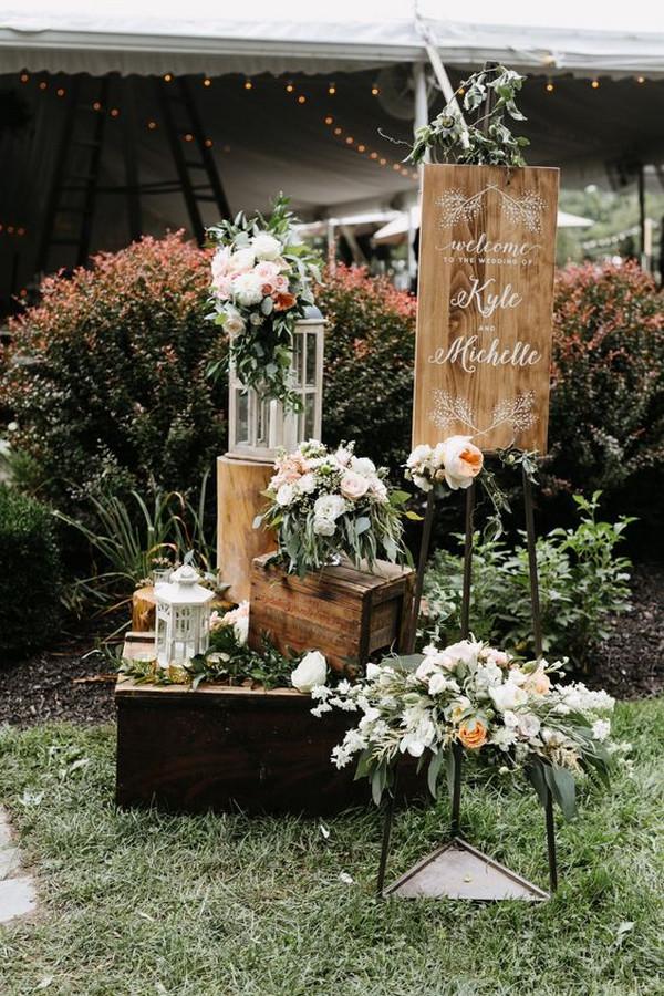 garden wedding entrance decoration ideas
