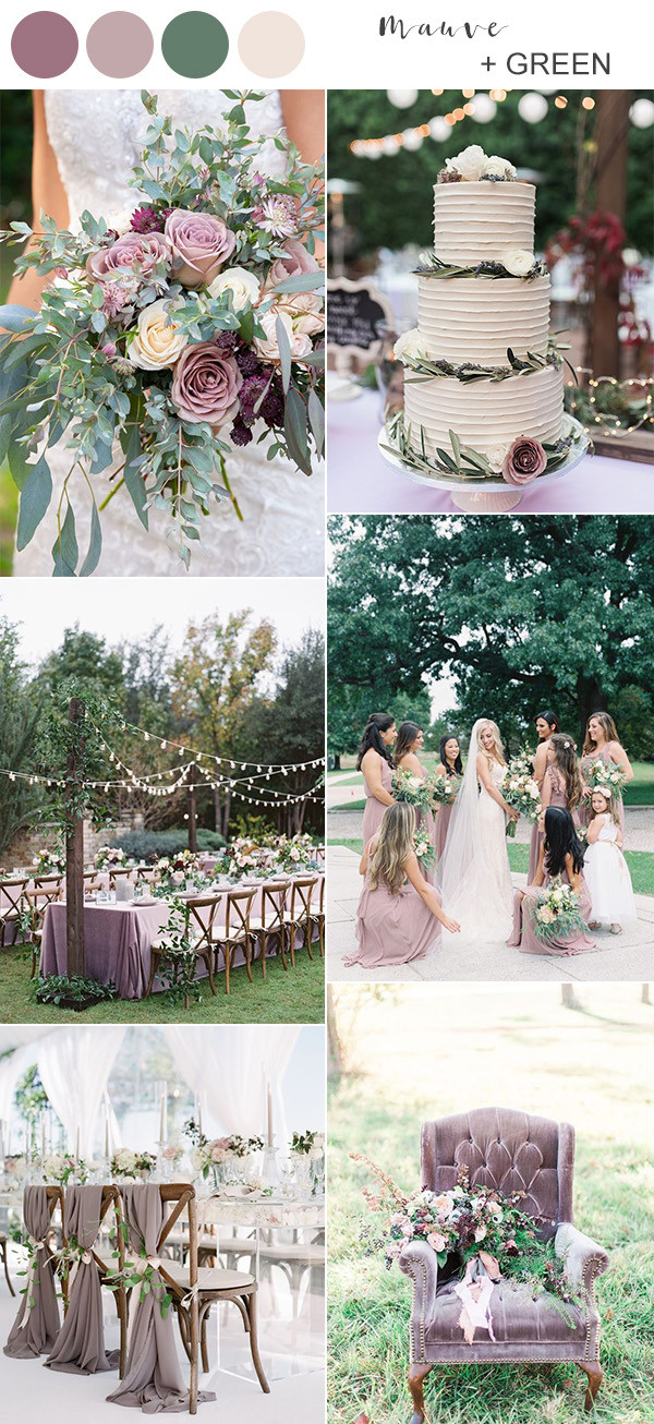 mauve and green wedding color ideas 2020