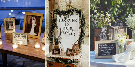 memorial wedding table decoration ideas