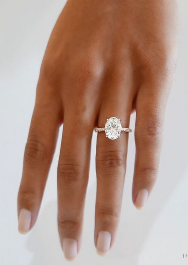 modern rose gold wedding engagement ring