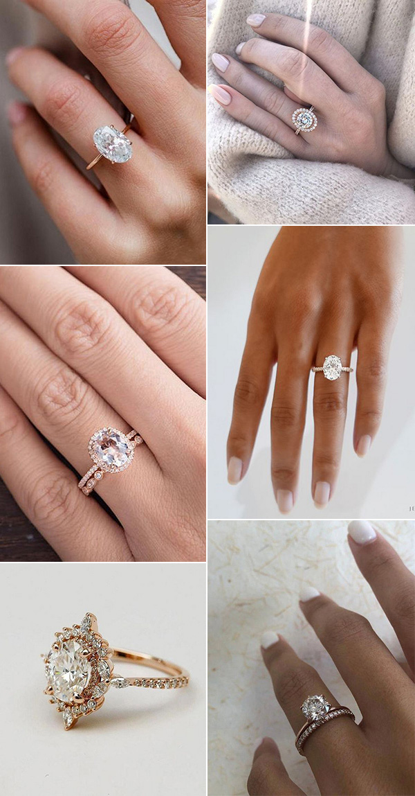 rose gold wedding engagement rings for 2020 trends