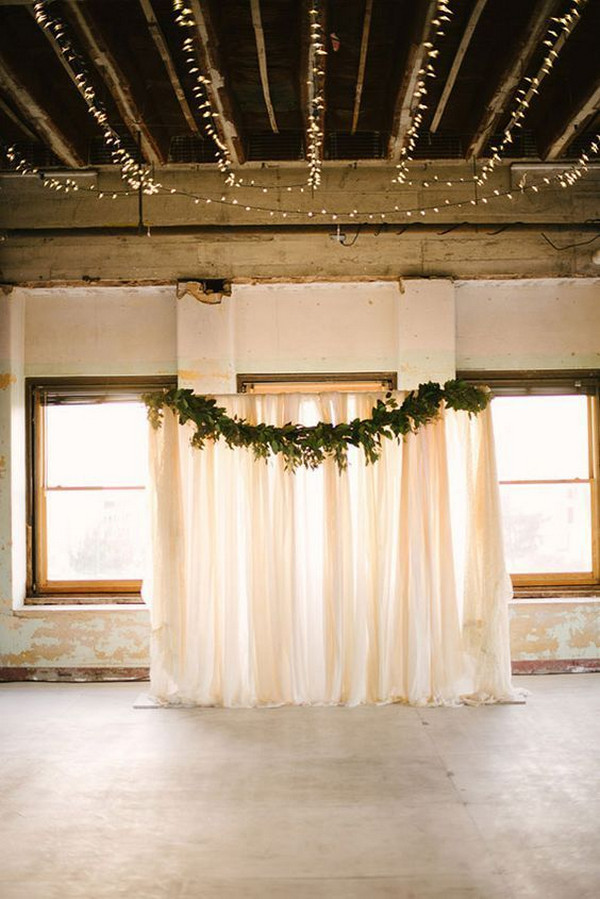 simple industrial wedding arch ideas
