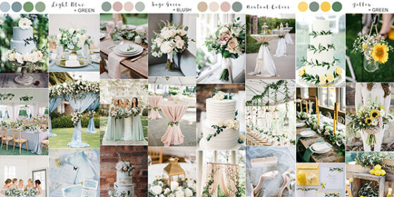 spring summer wedding colors 2020