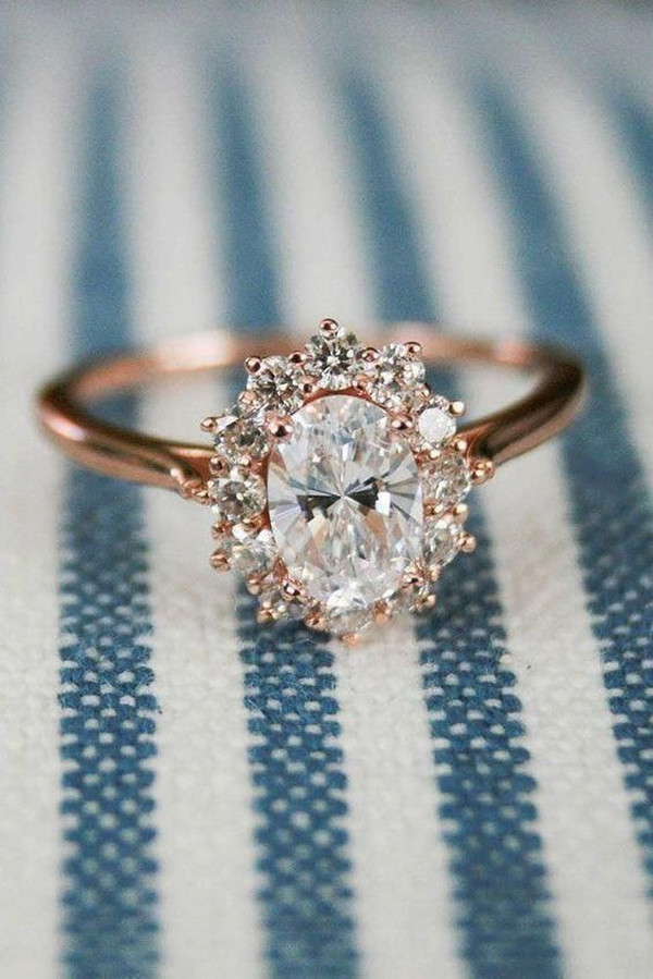 stunning vintage rose gold diamond engagement ring