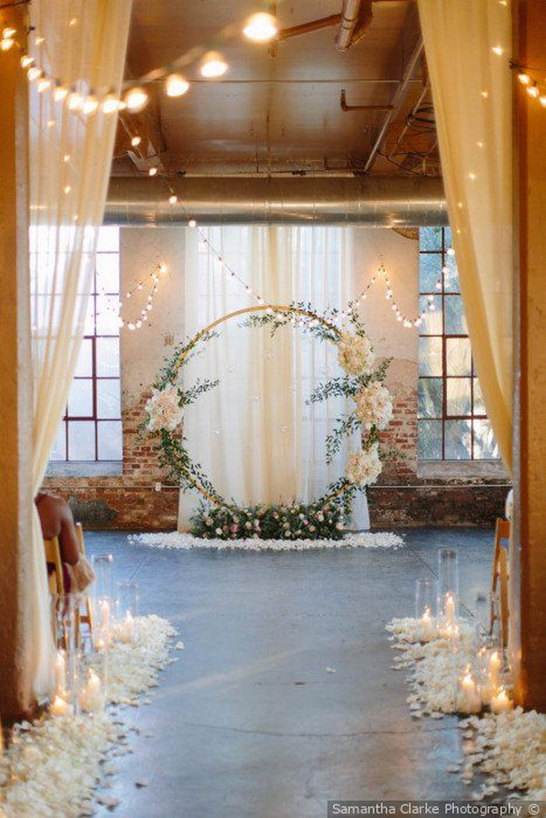stunning wedding ceremony ideas with round arch
