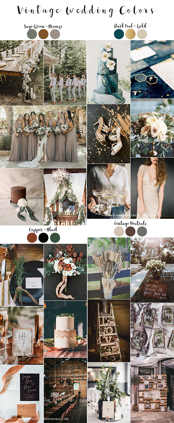 trending vintage wedding color ideas