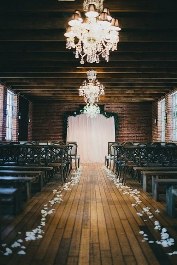 vintage indoor wedding ceremony ideas