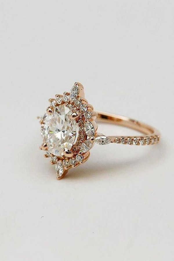 vintage rose gold wedding engagement ring