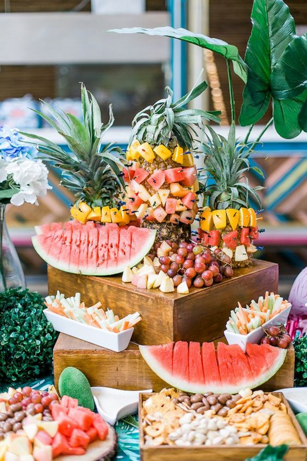amazing tropical wedding food ideas