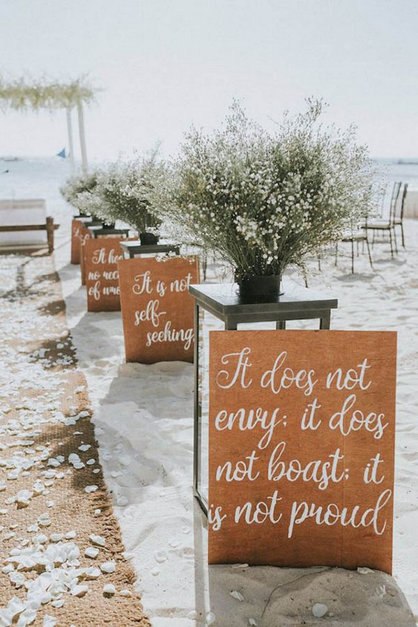 beach wedding aisle decoration ideas