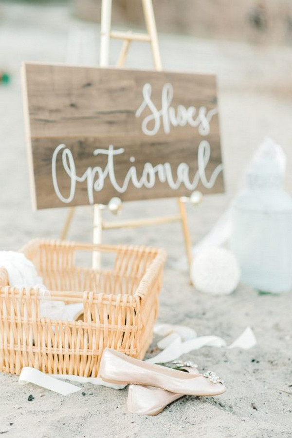beach wedding ideas for shoes