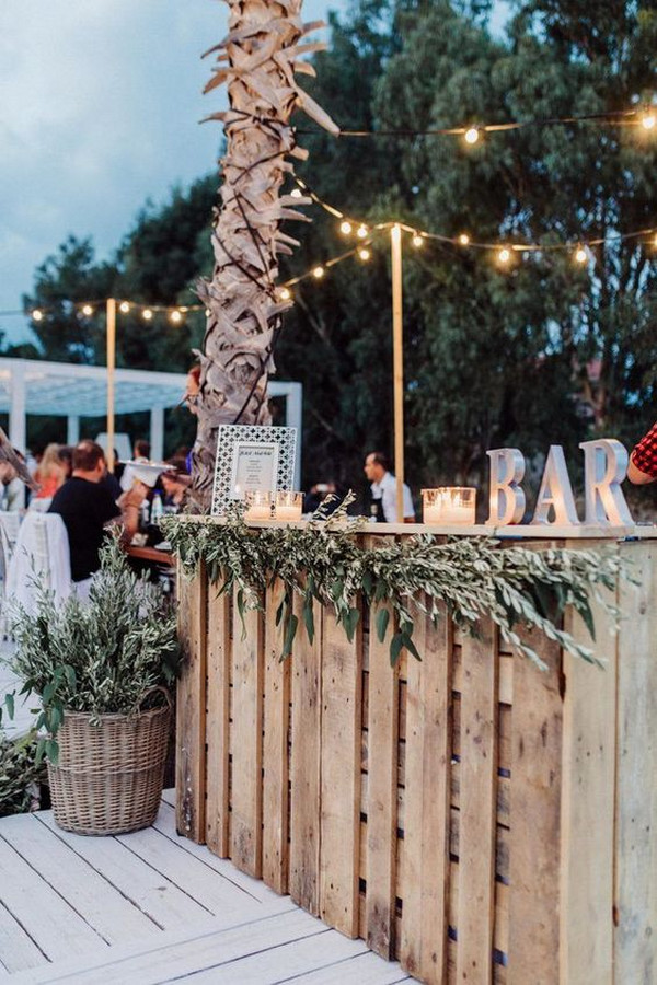 beach wedding reception bar ideas