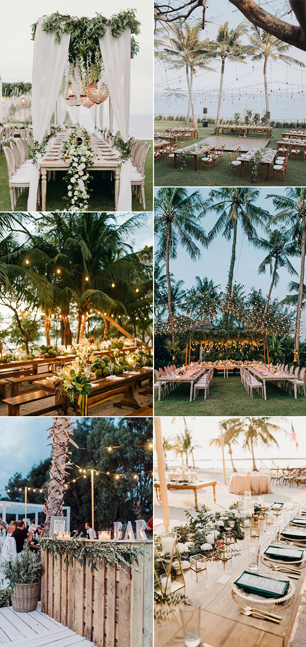 beach wedding reception decoration ideas for 2020