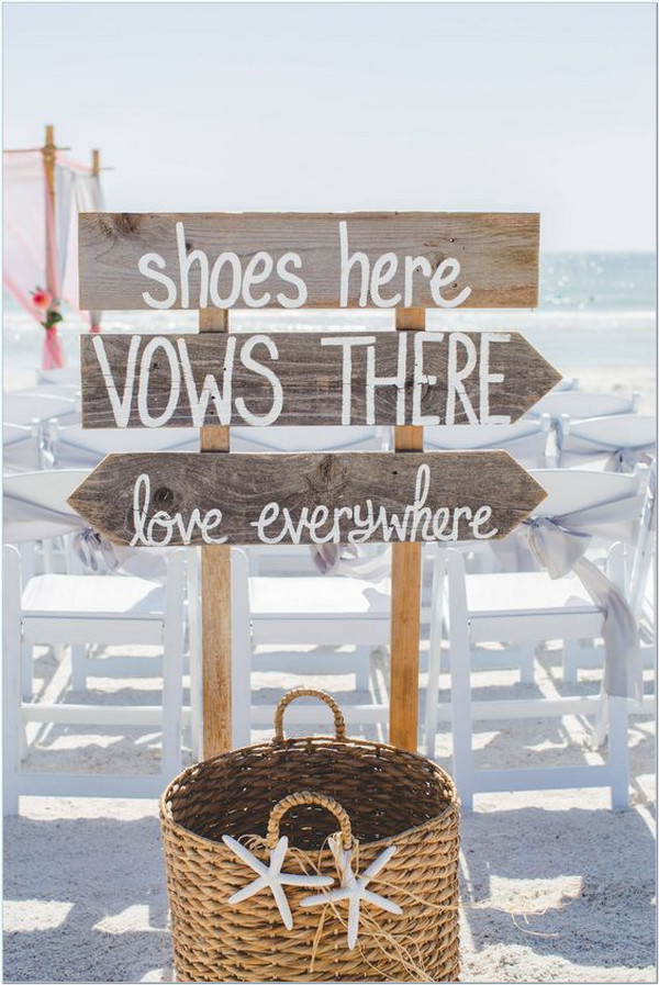 beach wedding sign decoration ideas