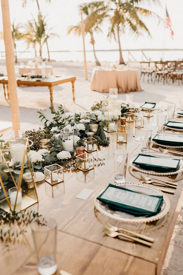 boho beach wedding reception decoration idea