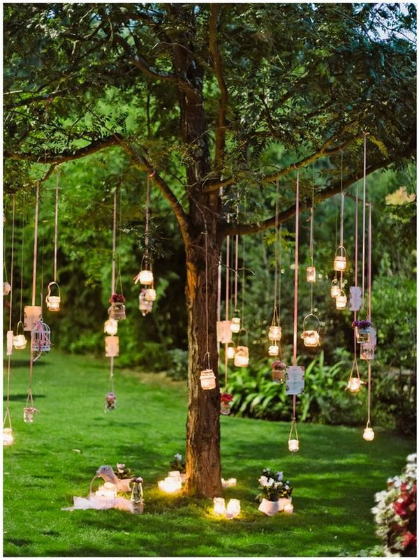 boho chic garden wedding decoration ideas